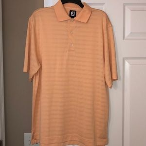 Size L Men's Footjoy golf salmon color polo